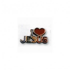 Pin's I love Jesus multicolore - 71593 - Uljo
