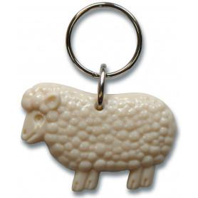 Porte-clés mouton Psaume 23 blanc crème – 72236 - Uljo