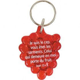 Porte-clés Grappe Jean 15.5 rouge – 729821 - Uljo