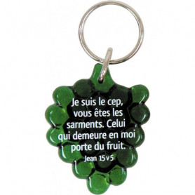 Porte-clés Grappe Jean 15.5 vert – 729823 - Uljo