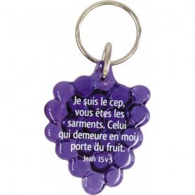 Porte-clés Grappe Jean 15.5 violet – 729828 - Uljo