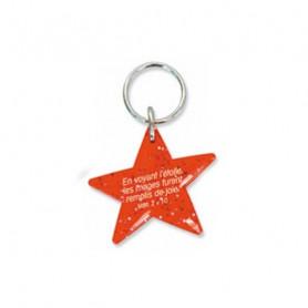 Porte-clés Etoile Matthieu 2.10 rouge – 729981 - Uljo