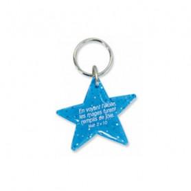 Porte-clés Etoile Matthieu 2.10 bleu – 729982 - Uljo