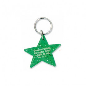 Porte-clés Etoile Matthieu 2.10 vert – 729983 - Uljo
