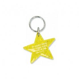 Porte-clés Etoile Matthieu 2.10 jaune – 729989 - Uljo