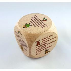Mini dé en bois Prières enfants 5cm - 72560 - Uljo