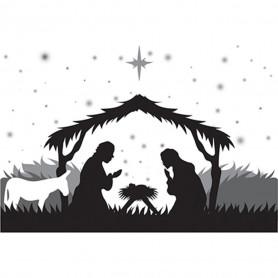 Tampon Cling Nativité - Spellbinders