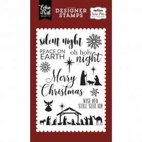 Tampons Oh Holy Night 10x15 cm 12 pc collection Wise Men - Echo Park