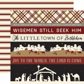 Papier 30x30 Border Strips 1f - Wise Men Still Seek Him - Echo Park