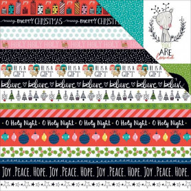 Papier 30x30 Borders 1f – Illustrated Faith Christmas