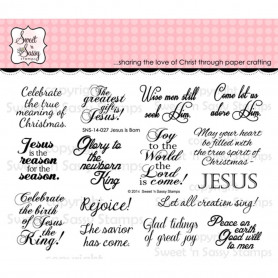 Tampons Jesus is Born - Sweet 'n Sassy Clear Stamps