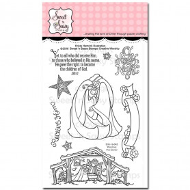 Tampons Receive the Savior - Sweet 'n Sassy Creative Worship Clear Stamps