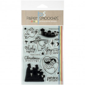 Tampons A Blessed Christmas - Paper Smooches Clear Stamps