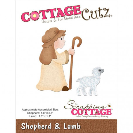 Die Berger et agneau - CottageCutz - Scrapping Cottage Die Sheperd & Lamb