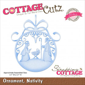 Die Nativité - CottageCutz - Scrapping Cottage Die Ornament Nativity