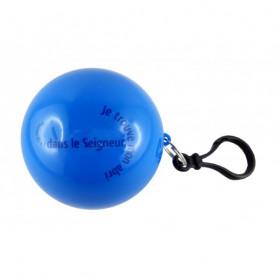 Poncho de pluie dans une boule Psaume 91.1 bleu - 72216 - Uljo