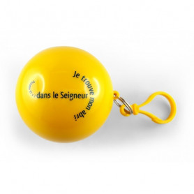 Poncho de pluie dans une boule Psaume 91.1 jaune - 72217 - Uljo