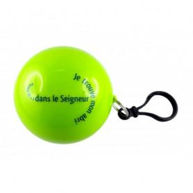Poncho de pluie dans une boule Psaume 91.1 vert - 72215 - Uljo