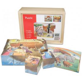 Puzzle cubes en bois Arche de Noé 12 pièces - 71213