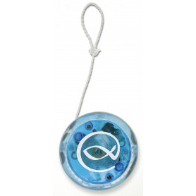 Yoyo bleu clignotant avec Ichthus - 72075