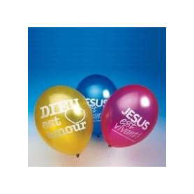 Ballons avec texte biblique 10 pc - 71500