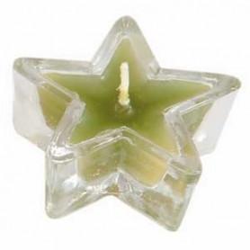 Bougeoir étoile en verre 5 cm vert – 721103 - Uljo