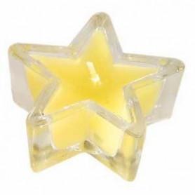 Bougeoir étoile en verre 5 cm jaune – 721109 - Uljo