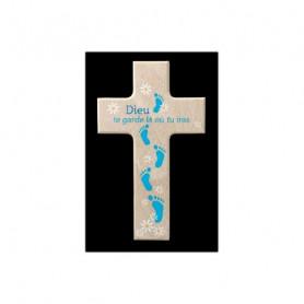 Croix en bois Dieu te garde là où tu iras 9x15cm– 72572
