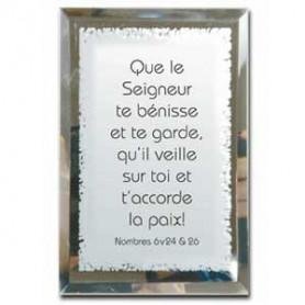 Tableau Miroir Que le Seigneur te bénisse - 10x15 cm - 76127