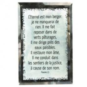 Tableau Miroir L'Eternel est mon berger - Psaume 23 - 10x15 cm - 76131