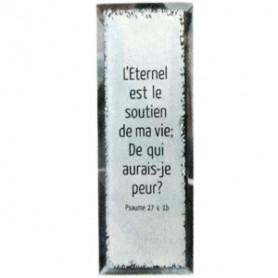 Tableau Miroir L'Eternel est le soutien de ma vie - 5x14 cm - 76133