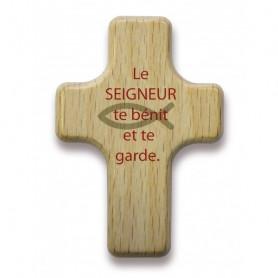 Mini croix en bois Le Seigneur te bénit - 72551
