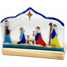 Décoration crèche en verre avec bougeoirs – 74951 - Uljo