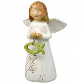 Figurine Ange et Ichthus 8cm - 72418