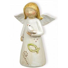 Figurine Ange et Colombe 8cm - 72420