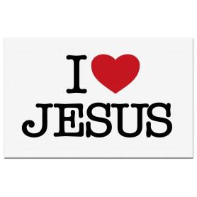 Autocollant I love Jésus - 71676