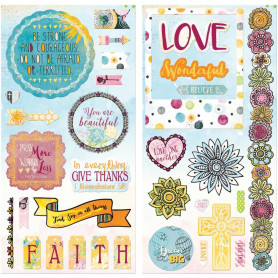 Chipboards Faith 35pc - Bo Bunny