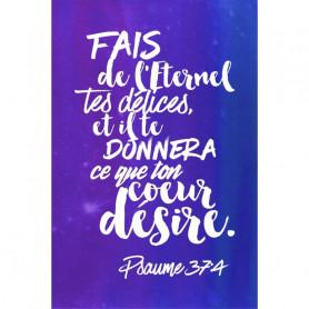 Tableau Aquarelle – Psaume 37.4 – 20x30 cm