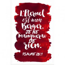 Tableau Aquarelle – Psaume 23.1 – 20x30 cm