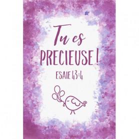 Tableau Aquarelle Fille – Tu es précieuse – Esaïe 43.4 - 20x30 cm