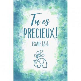 Tableau Aquarelle Garçon – Tu es précieux – Esaïe 43.4 - 20x30 cm