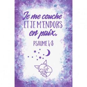Tableau Aquarelle Enfant – Psaume 4.8 - 20x30 cm
