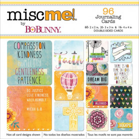 Cartes journaling Faith 96 pc - Bo Bunny Miscme! Pocket Squares