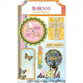 Layered Chipboards Faith 6pc - Bo Bunny