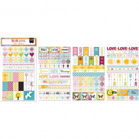 Clear Stickers Faith 4pc - Bo Bunny