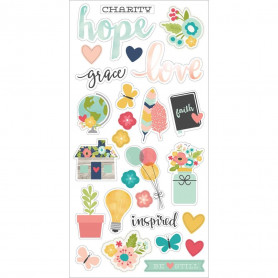 Chipboards Faith 27pc - Simple Stories