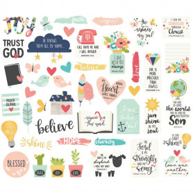 Die-cuts Faith 44 pc - Simple Stories Ephemera Bits & Piece
