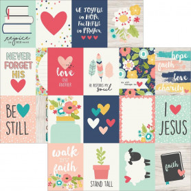 Papier 30x30 3x4 Journaling Card Elements 1f – Simple Stories Faith