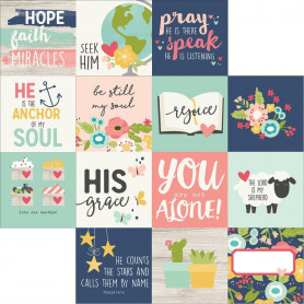 Papier 30x30 4x4 Journaling Card Elements 1f – Simple Stories Faith