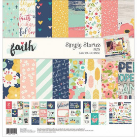 Set de papier 30x30 Faith 12f - Simple Stories Kit